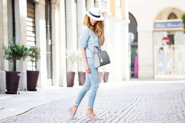 espadrillas con jeans